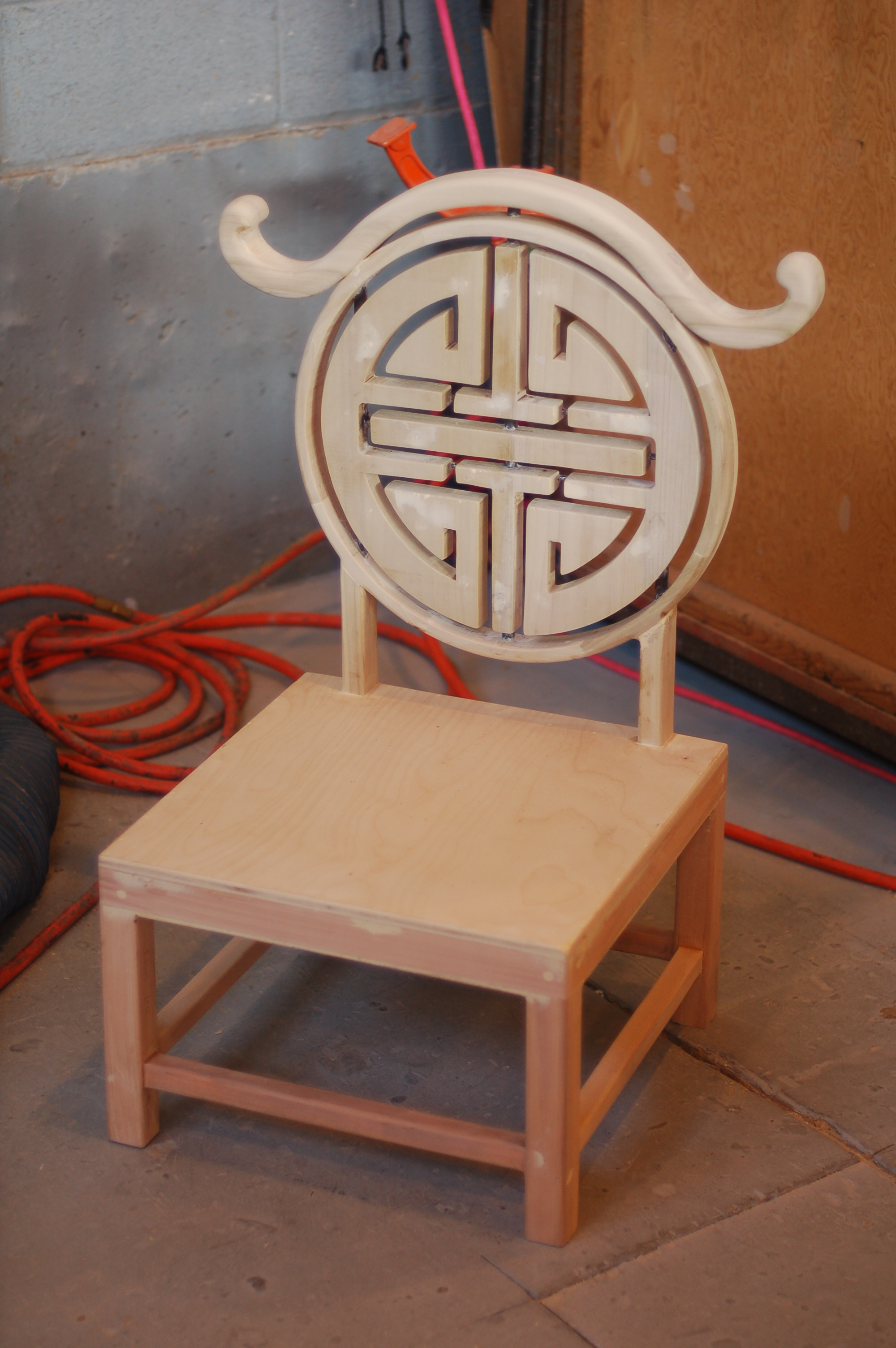 """A chair I built for the opera, """"Tea"""""""
