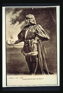 Sarah Bernhardt as Hamlet, London 1870