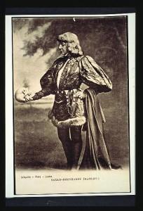 Sarah Bernhardt as Hamlet, London 1870