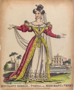 Miss Fanny Kemble as Portia in the Merchant of Venice