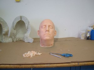 A Silicone Severed Head