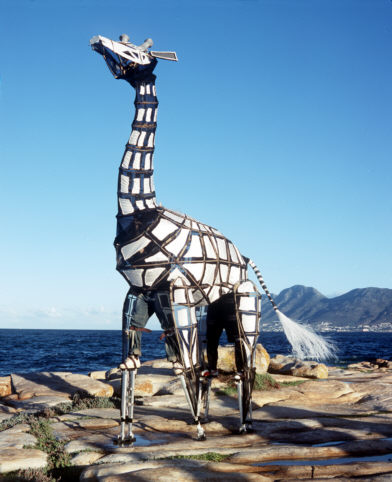 The Giraffe puppet from Tall Horse, made by Handspring Puppet Company