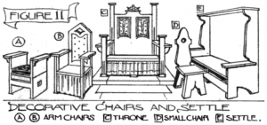 Figure 11: Decorative chairs and settle