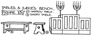 Figure 13: Tables and Judge's bench