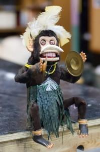 monkey toy used in Slave Shack