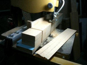 Taper jig on the bandsaw
