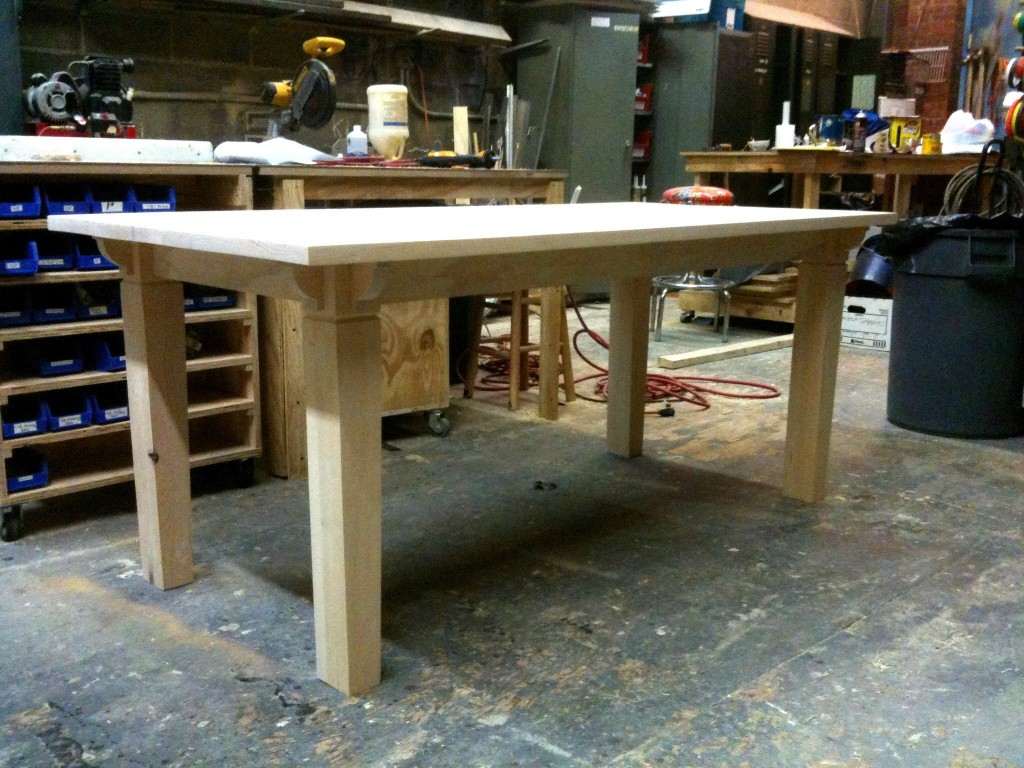 Final table before staining