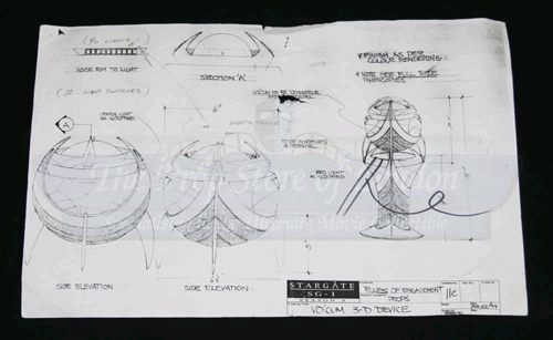 Production concept sketch for Vo'Cum 3-D Device