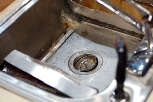 Interior of the sink