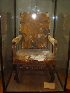 Click for a larger view of Moliere's chair