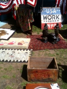 Collection of wares for sale