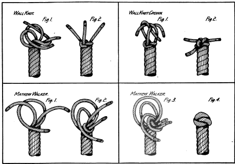 Wall knot, wall knot crown, Mathew Walker