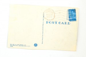Back of the postcard