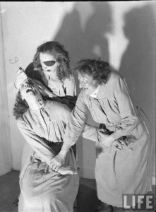 Crime in a Madhouse. Photograph by Hans Wilder, 1947