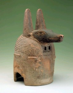 Ceramic Anubis mask