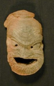 Terracotta mask from 395BCE-332BCE