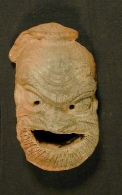 Terracotta mask from 395CE-332BCE