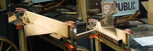 Sequence showing a fold being made