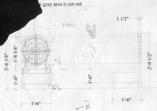 drafting of a prop chair
