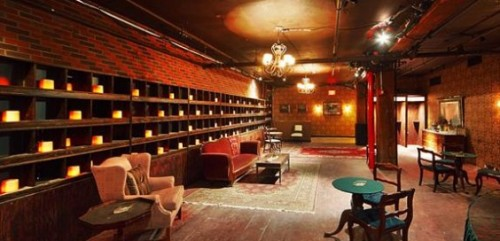 "The lobby of the McKittrick Hotel, where ""Sleep No More"" is set"