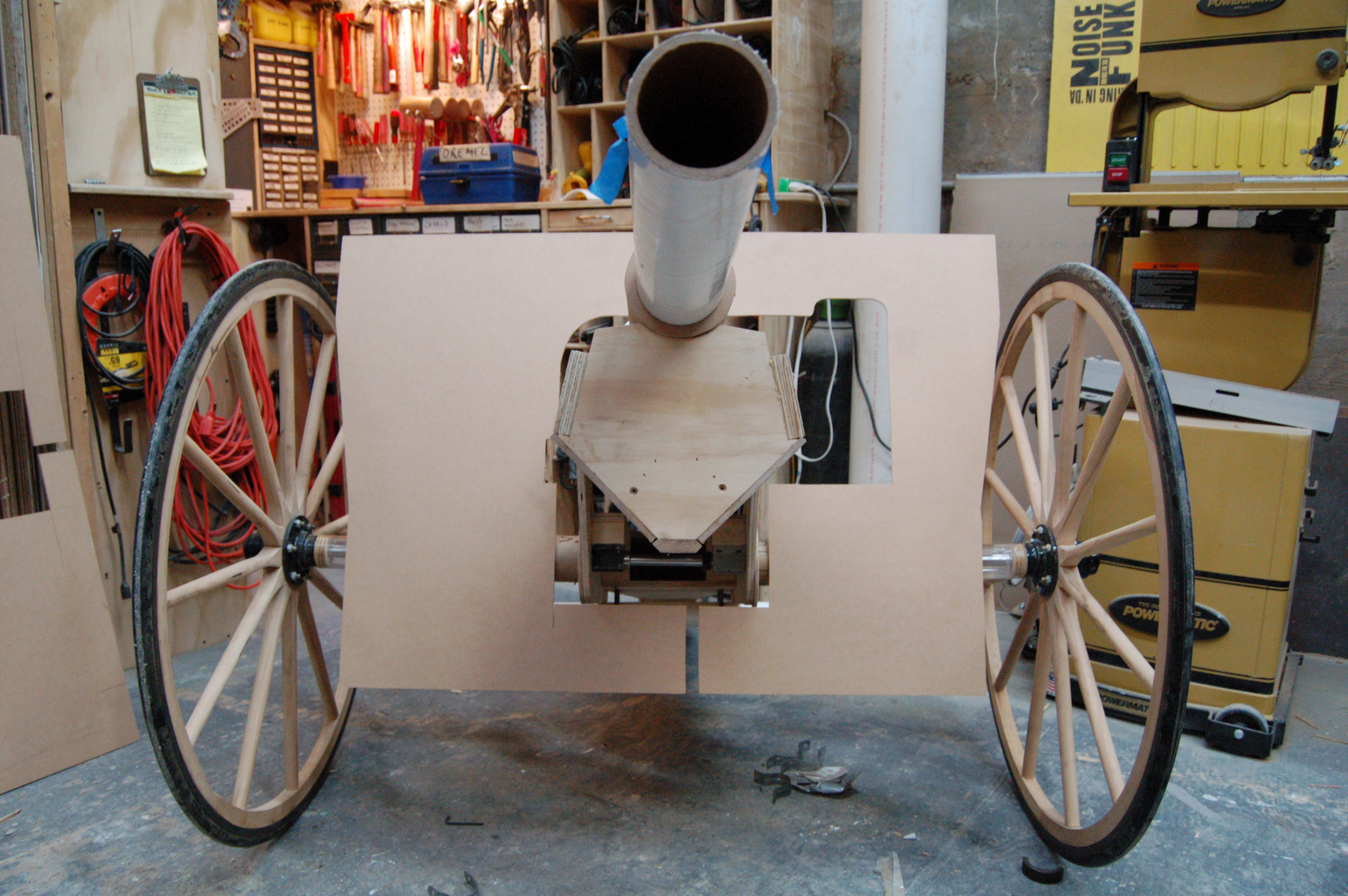 front of the cannon