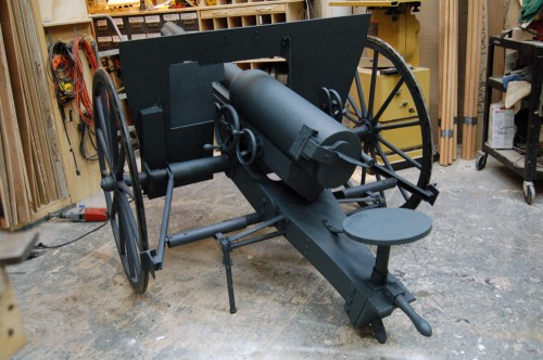 Rear left side of the cannon