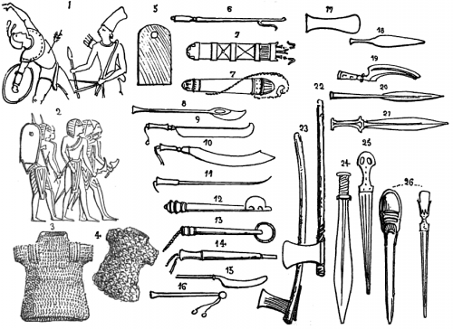 The types and styles of Ancient Egyptian weapons