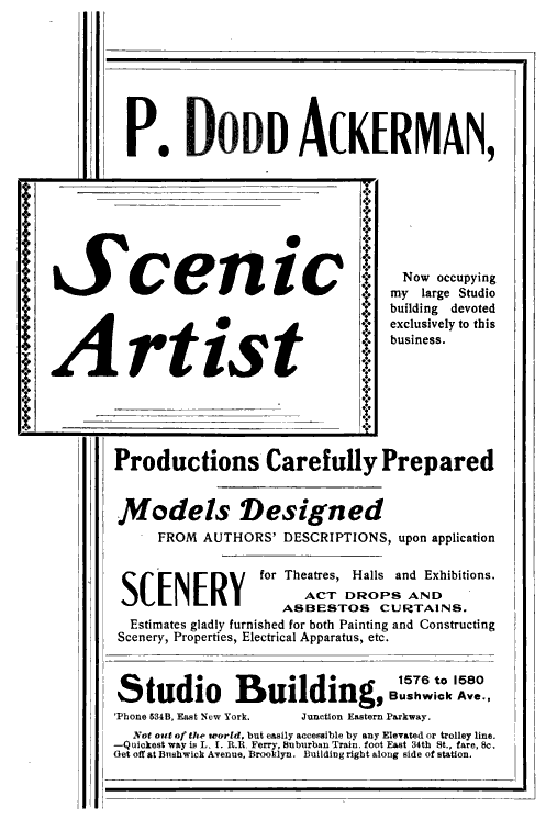 Ackerman, scenic artist