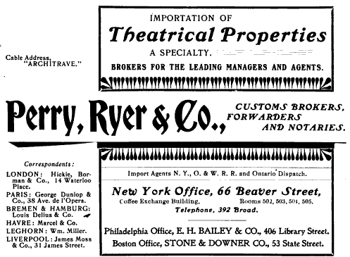 Perry, Ryer and Co Imports