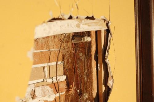 Inside of the broken wall