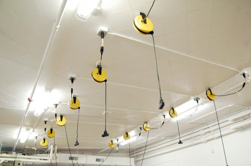 Ceiling power cords