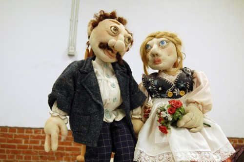 A puppet couple by Rebecca Akins