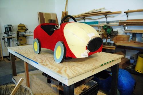 Upholstered car