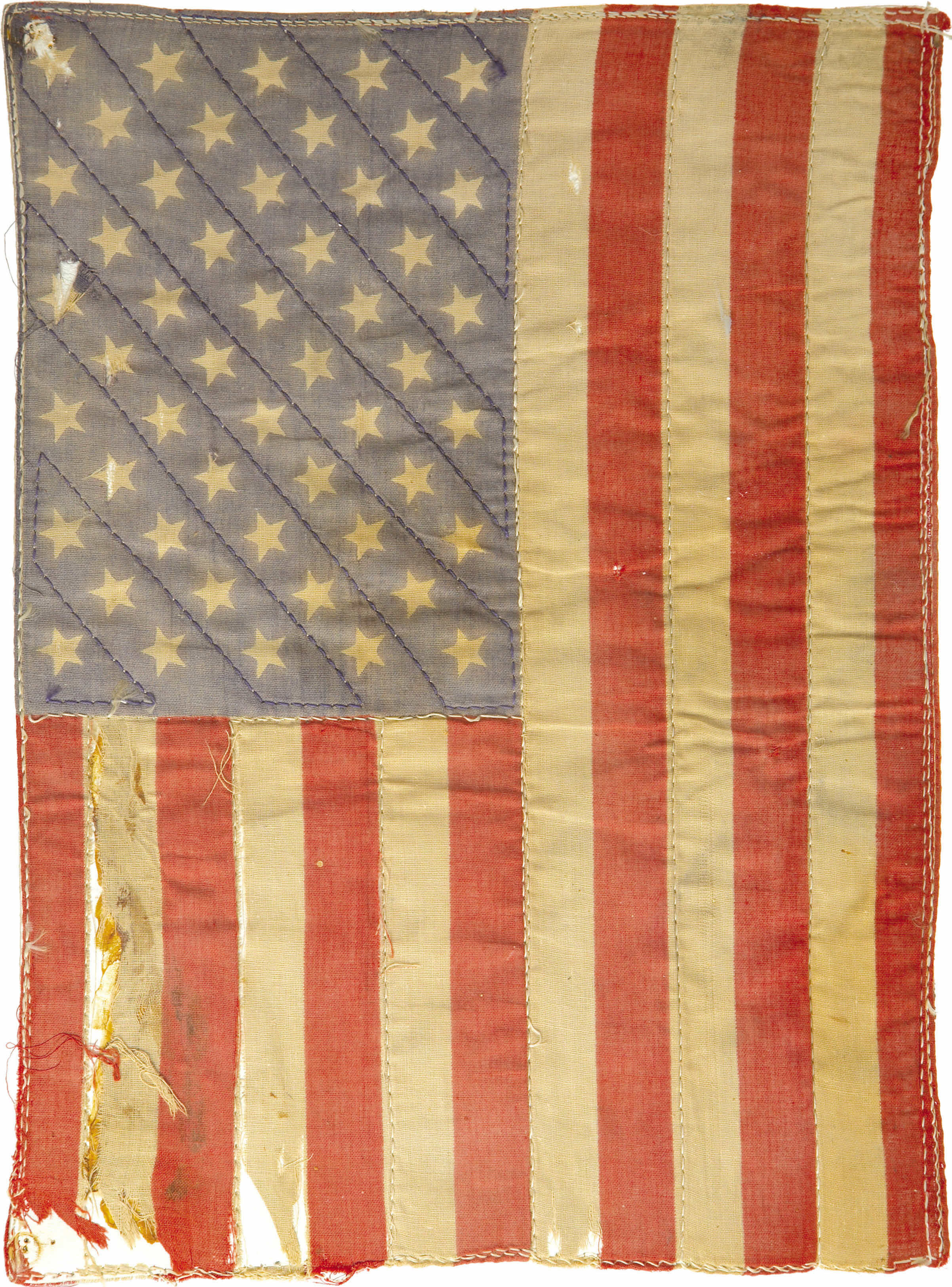 vertical positioning of the US flag