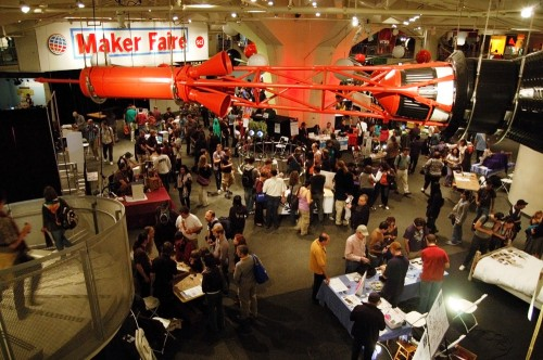 Floor of the interior portion of Maker Faire