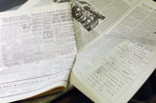 Interior of the newspaper