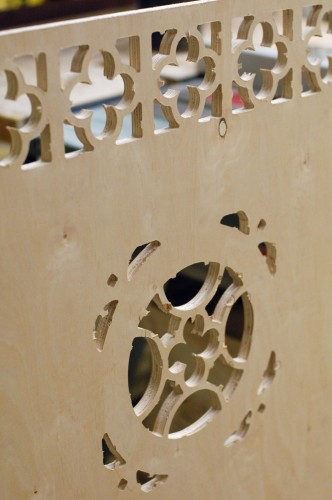 CNC routed headboard design