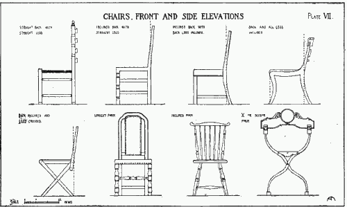Chairs - Front and side elevations