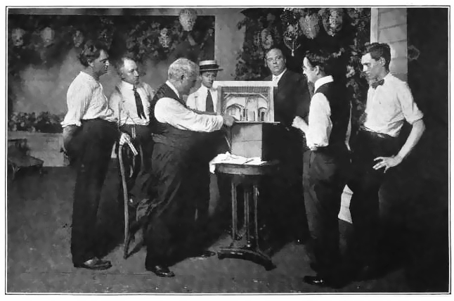 David Belasco with the Heads of His Artistic and Mechanical Departments