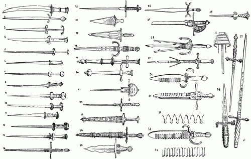 Daggers and Poniards of the Christian Middle Ages