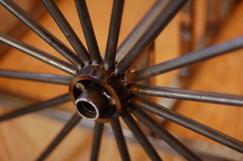Closeup of wheel