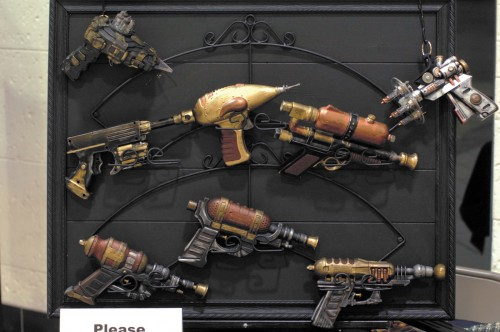 Steampunk weapons by Stephen Chapman