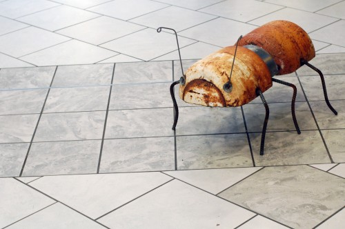 Recycled metal sculptures by Riley Foster