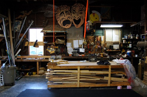 The scenery shop at Monomoy Theatre