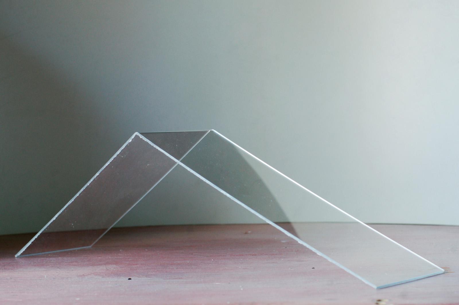Acrylic bent at an angle