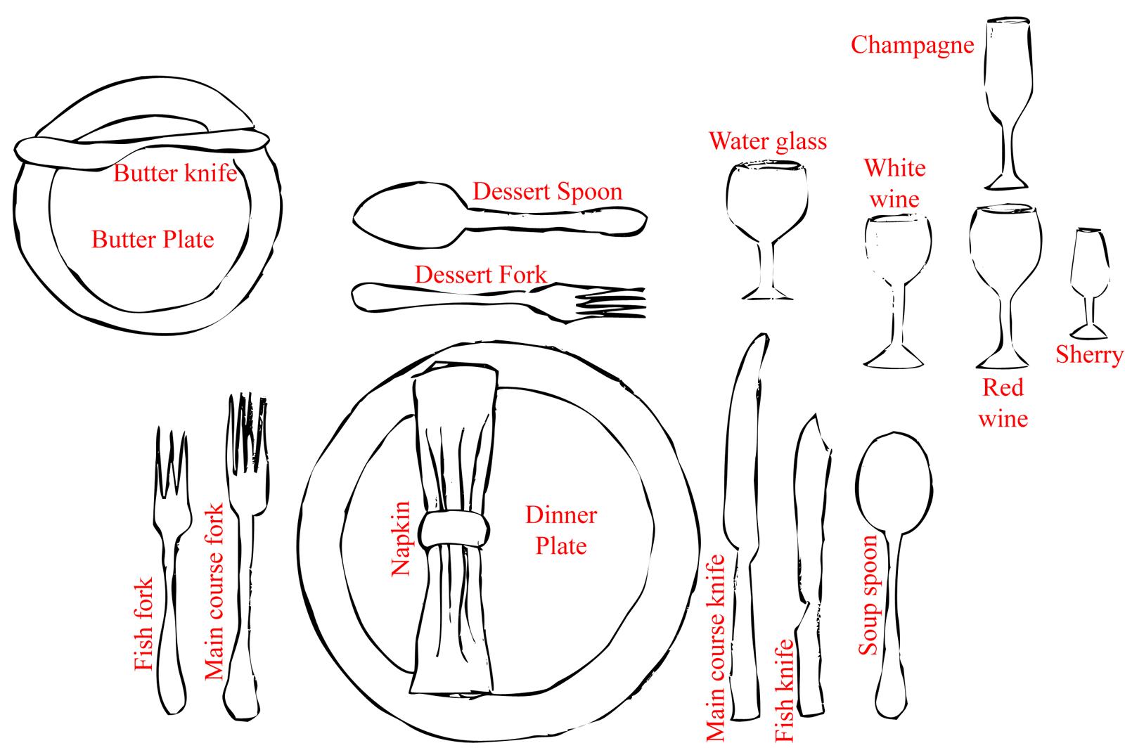 Formal dinner setting