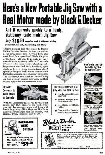 Popular Mechanics, April 1953.