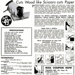 Whiz-Saw ad, Popular Science, May 1949.