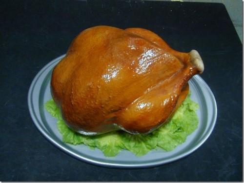 Vacuum formed turkey