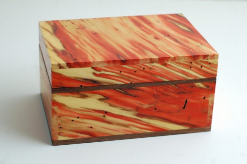 A box made from box elder.